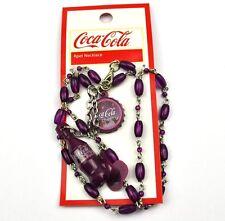 COCA-COLA Cerezo COKE Cadena Collar Collar Botella Tapa de BOTELLA BOTTLE CAP