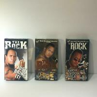 WWF/WWE The Rock: Just Bring It!/The People's Champ/Know Your Role Lot of 3 VHS