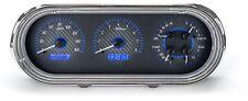 1962-65 Chevrolet Nova Chevy II Dakota Digital Carbon Fiber & Blue VHX Gauge Kit