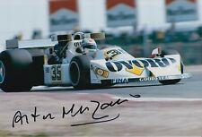 Arturo Merzario Firmato a Mano 12x8 Foto-Autografo di formula 1 F1 1.