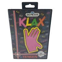 CIB KLAX (Sega Genesis, 1993) COMPLETE IN BOX - Cleaned & Tested
