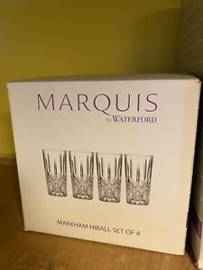 MARQUIS MARKHAM BY WATERFORD GLASSES - Set Of 4 Hiball Glasses