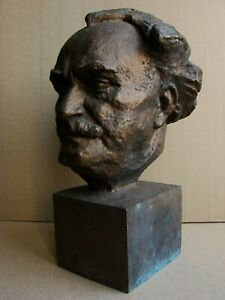 Russian Soviet USSR author's bust sculpture BRONZE Dimitrov communist Stalin era