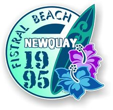 Retro Surf board Surfing Fistral Beach NEWQUAY 1995 Car Camper van sticker decal