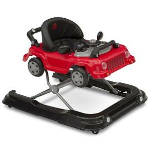 Baby Toddler Activity Walker Interactive Comfortable Jeep Wrangler Design Red