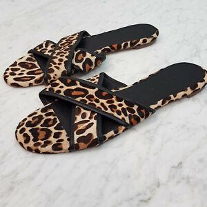 J.CREW  | Womens Cora Leopard Sandals Shoes  [ Size US 9.5 ]