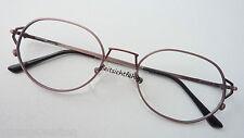 Prestige Brillenfassung Metallgestell Unisex leicht  Antiklook braun size M