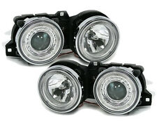ANGEL EYES Headlights in clear glass chrome for 3 series BMW E30 82-94