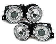 ANGEL EYES Headlights in clear glass chrome for 3 series BMW E30 82-94 RHD LHD