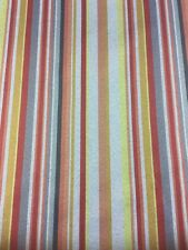 Red/Orange/Grey Stripe Fabric By The Metre