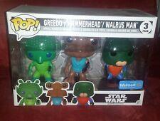 Funko Pop! Star Wars Greedo Hammerhead Walrus Man Walmart 3 Pack