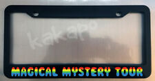 Magical Mystery Tour Beatles Fans Black License Plate Frame