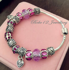 DIY Charm Beads Purple Braclet/RGB064s