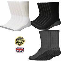 Men's  Diabetic Friendly Socks  Soft Top Heavy Duty Work Boots Reinforced Heel,