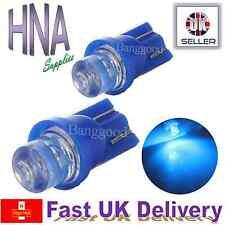 2 x Car LED 501 T10 W5W BLUE XENON Side Light Interior Bulbs Concave UK b