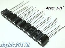 10 pz Condensatori elettrolitici 47uF 50V 105° - 10 pezzi condensatore