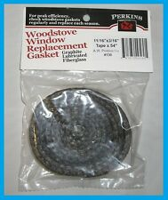 AWP PERKINS Woodstove Glass Door Gasket Black Graphite Tape with Adhesive AW130