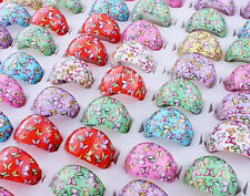 100Ps Wholesale Mixed Lot butterfly Cute Cartoon Children/Kids Resin Lucite Ring