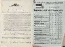 DRESDEN, Preislisten Brief 1929, Georg Friedel Laboratorium Molkerei Käserei