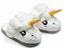 Plush Unicorn Slippers for Adults - Retail Packaging - Imported