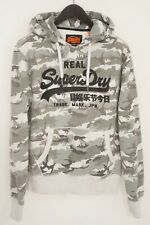 Men Superdry Hooded HoodieGrey Camouflage Cotton Relaxed Fit M XN839