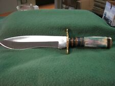 """Chipaway Cutlery Hunting Knife 12"""" Single Blade Knife W/ Leather Sheath Nib"""