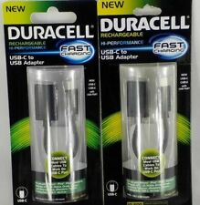 (2)Duracell USB-C to USB Adapter - Rechargeable, Hi-Performance, Fast Charging