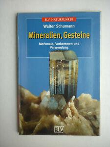Mineralien , Gesteine - BLV Naturführer - Sachbuch Bestimmung - Walter Schumann