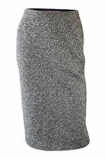 EMANUEL UNGARO Vintage Black White Tweed Pencil Skirt (IT 34)