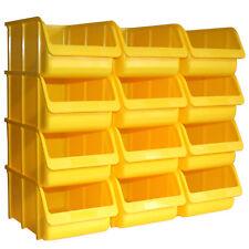 12x Profi Sichtboxen PP Größe 4 gelb NEU Stapelbox Sicht-Lagerbox Boxen Sichtbox