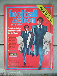 """Football Action 1976 Guide """"Double Issue"""" with College & Pro Combined - OJ cover"""