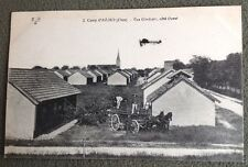 CPA. Camp d'AVORD. 18 - Vue Générale, côté Ouest. Avion. Attelage. 1918.