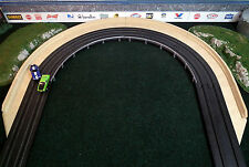 """HO Slot Car Track Borders 12"""" Outer With Lead-in/out Sections & Walls"""