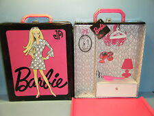 JONATHAN ADLER BARBIE DOLL CARRYING CASE w/4 FASHION COAT HANGERS & A HAIR BRUSH