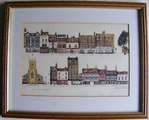 Hilary Hamilton Limited Edition Print No 27 of 850: Bridge Street, Cambridge