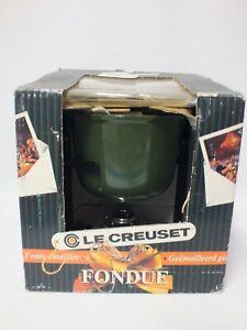Le Creuset Green Cast Iron Fondue Set   (Hol)