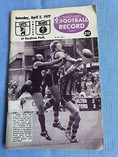VFL Football Record 1977 Geelong V Carlton