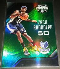 Zach Randolph 2015-16 Totally Certified MIRROR GREEN Parallel Card (#'d 1/5)