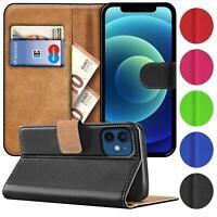 Book Case für iPhone 12 Mini Hülle Flip Cover Handy Tasche Schutz Hülle Schale