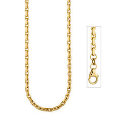 Ankerkette Goldkette 585 Gold Gelbgold diamantiert Halskette 3 mm 50 cm 46814