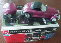 AMT PLYMOUTH PROWLER W/TRAILER 1/25 SCALE MODEL built & painted-SPECIAL PURCHASE
