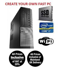 Dell Optiplex 7010 390 790 Desktop Business PC i7 SSD HDD Win 10 Pro up to 32 GB
