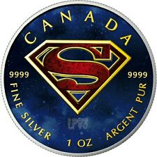 2016 SUPERMAN 1 Oz SILVER COLORED MINTAGE 100 PCS WITH BOX & COA..