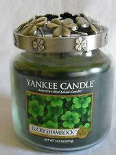 Yankee Candle Collectors Edition 14.5 oz Lucky Shamrock Candle with Illuma Lid
