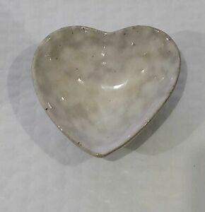 """Creative Co-Op DA8408 Stoneware Heart Dish  3.25"""" x 3"""""""