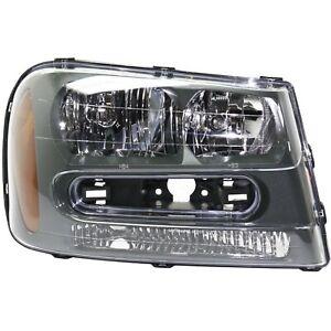 Headlight For 2002-2009 Chevrolet Trailblazer Passenger Side w/ bulb