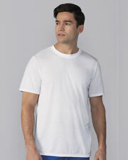 SUBLIMATION T-SHIRT - Gildan Crew Neck 100% Polyester Plain T SHIRT: WHITE