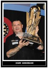 038. GARY ANDERSON  DARTS  SIGNED REPRODUCTION PRINT SIZE A4