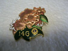 Lions Club Pin 14G Flower Vintage Collectible pin PA