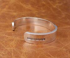 Men's Solid Sterling Silver X Heavy Torque Bracelet  -Hand Made - By D. Locke